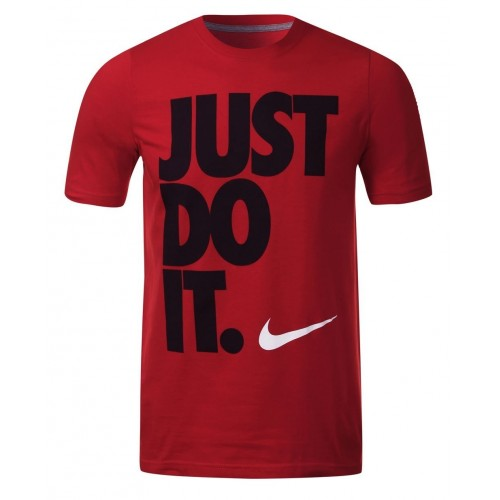 Nike Cotton Just Do It Mens Tee Shirt Crew Neck Short