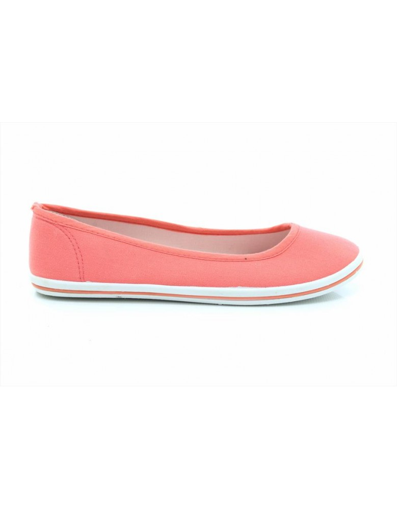 482ae8a8c0b DEK Womens Ladies Canvas Slip-On Ballerina Plimsolls Shoes Pumps  Navy Taupe Pink