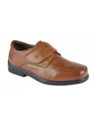 Roamers M688 Supersoft Leather Touch Fastening Mudguard Casual Shoes