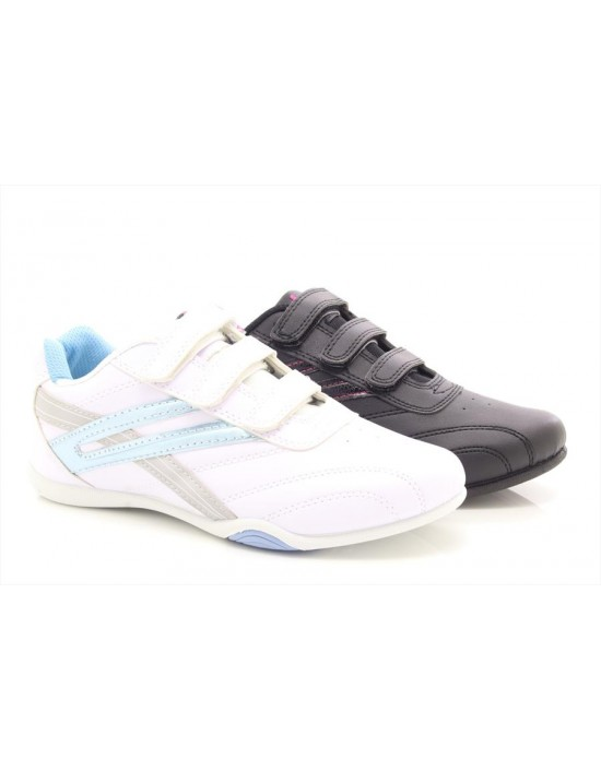 Ladies Girls Dek RAVEN Comfort Touch Fastening Trainers