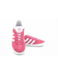 Adidas New Gazelle J Pink Ladies Girls BY9145 Suede Leather Trainers
