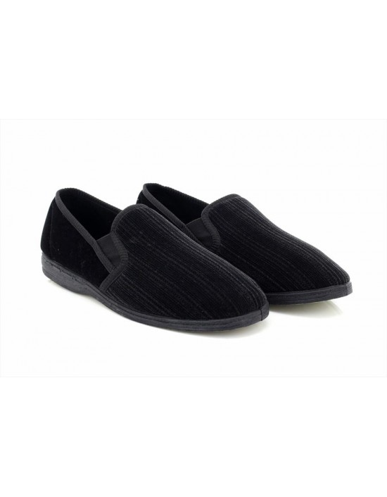 Sleepers GUY Twin Gusset hecked Velour Indoor Slippers