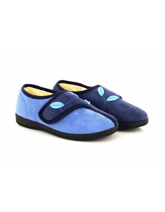Sleepers ABIGAIL Touch Fastening Leaf Pattern Trim Line Slippers