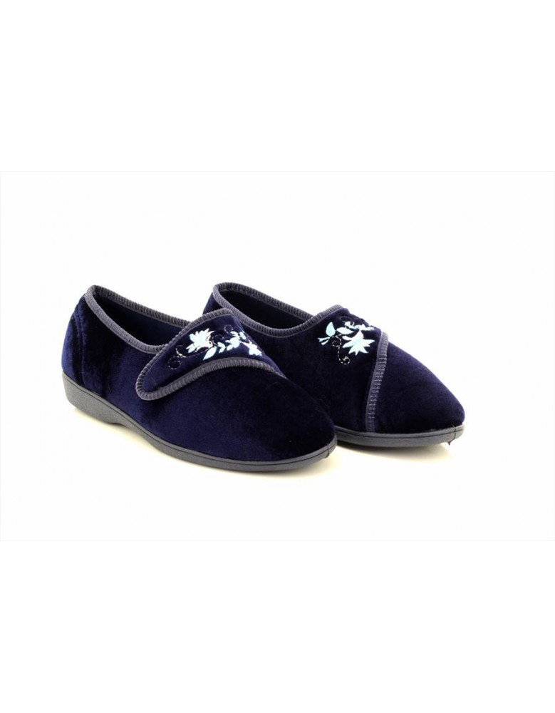 Sleepers JOLENE Touch Fastening Embroidered Slippers