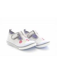 Dek Marry T-Bar Touch Fastening Sequin Summer Canvas Shoes