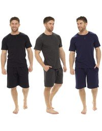 Mens Pyjama 100% COTTON Short Sleeves T-shirt and Short Pants M - XXL