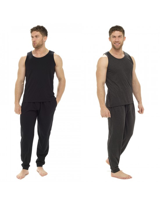Mens Pyjama 100% COTTON Vest and Pants Set M - XXL