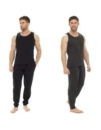 Mens Vest Short Pyjamas Men's Nightwear Summer Pjs Pajamas Loungewear Set 2pc