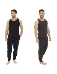 Mens Pyjama 100% COTTON Vest and Pants Set M - XXL