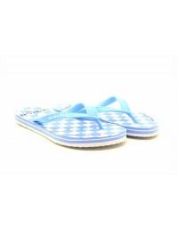 Womens Ladies Square Print Flip Flops Summer Beach Garden Shoes