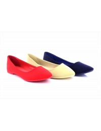 ShuCentre Nancy Womens Ballerina Ballet Dolly Pumps Ladies Flats Loafers Shoes Extra Padded