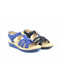 Boulevard L969 Touch Fastening T Bar Sling Back Summer Padded Sandals