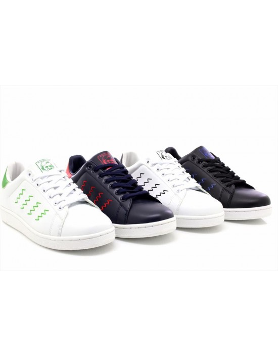 UK Shoes - Mens Boys Endorsed Smith Running Sports Trainers White/Black