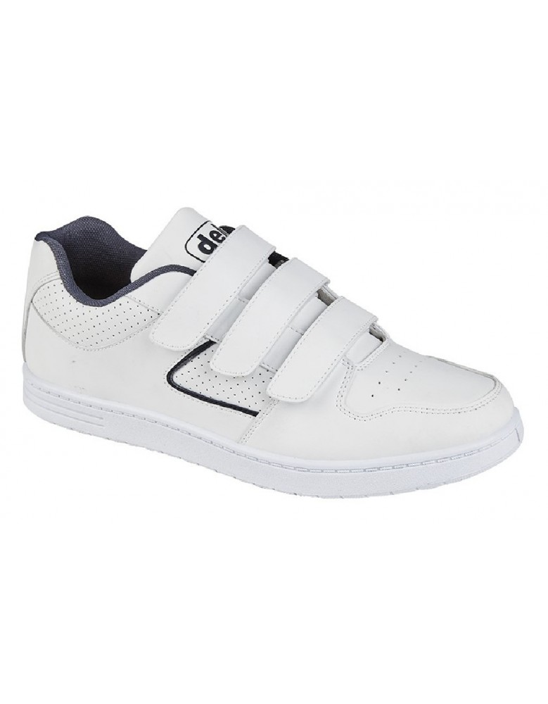 DEK Charing Cross Mens Trainers Touch Fastening in White Sizes UK 6-12