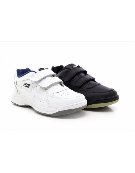 Dek ARIZONA Touch Fastening Leather Padded Trainers Fuller Fitting