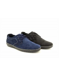 Mens New Lace Up Casual Suede Walking Boat Moccasin Loafers