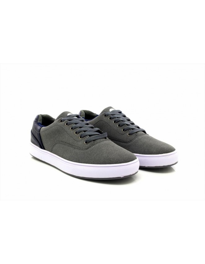 Mens ShuCentre Lace Up Logo Canvas Shoe Pumps Trainers Plimsolls New