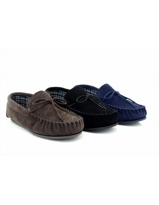 Mokkers BRUCE Suede Leather Moccasin Classic Full Slippers