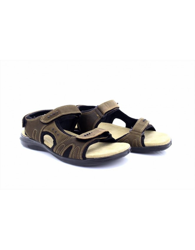 Roamers Nani Leather 3 Touch Fastening Sports Deluxe Padded Sandals