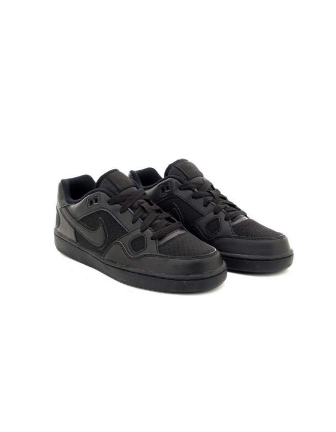 Nike Kids Black 'Son of Force' Leather Sneakers
