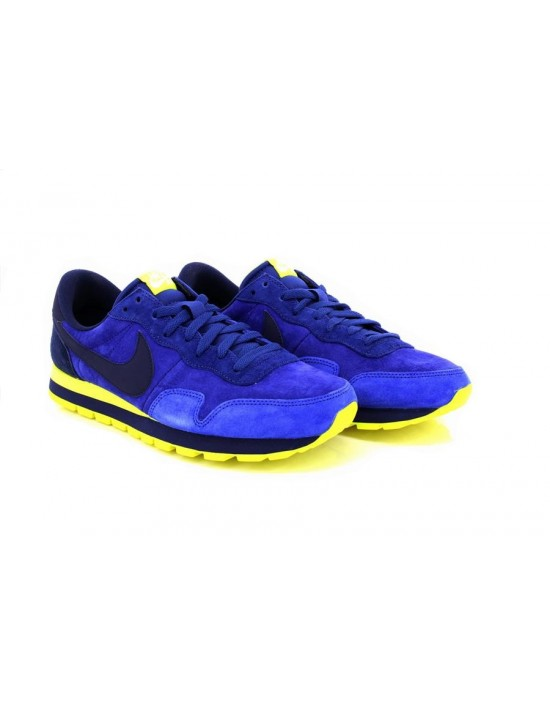 Mens Nike Pegasus 83 LTR Blue Lime Trainers Sneakers 616324 407