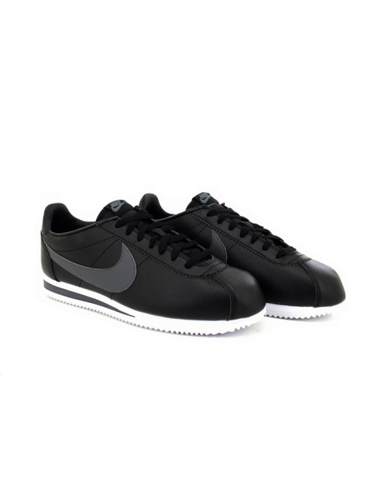 Nike Premium Classic Cortez Mens Trainers Black Grey New 2017