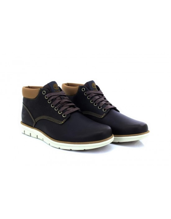 Timberland Bradstreet Chukka Dark Brown Leather Mens Boots