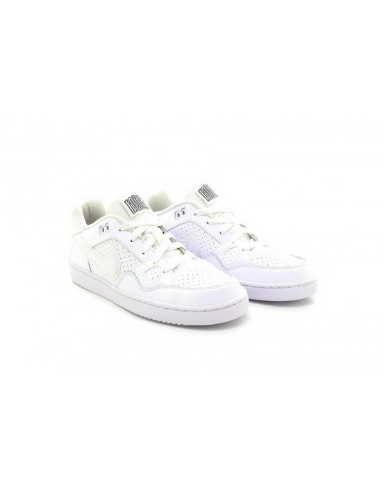 Nike Kids White 'Son of Force' Leather Sneakers
