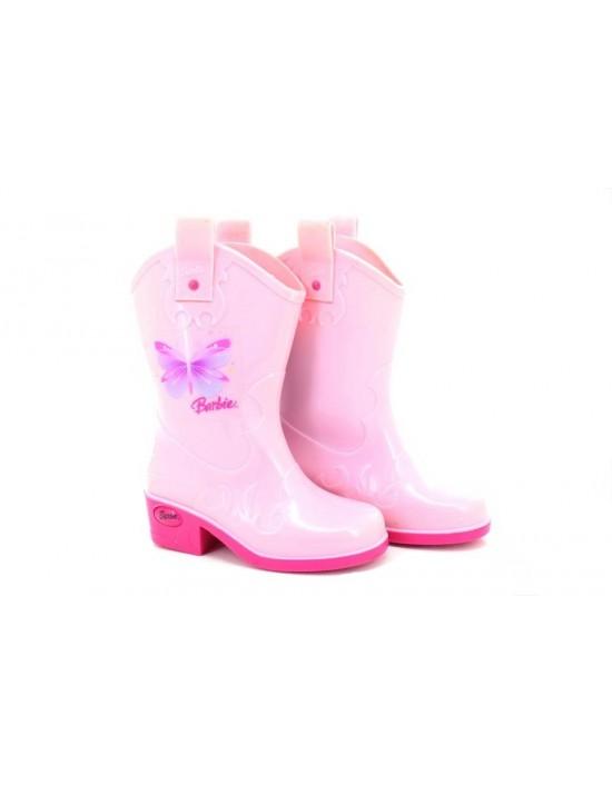 Barbie 'Rider' Girls Pink Wellington Boots Smart Heel Slim Fit Wellies
