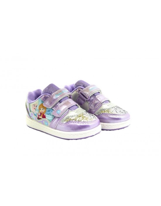 Frozen 'Wonder' Purple Diamante Glitter Novelty Summer Trainers