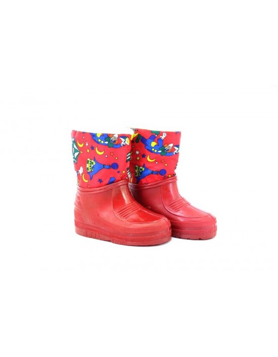 Kids Unisex Clown Red Half Wellington Storm Moon Thermal Boots