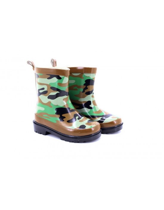 StormWells Neil Camouflage Ankle Water Proof Wellingtons Boots