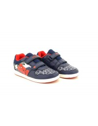 Spider-Man White Multi Official Ultimate Twin Touch Fastening Summer Canvas Trainers