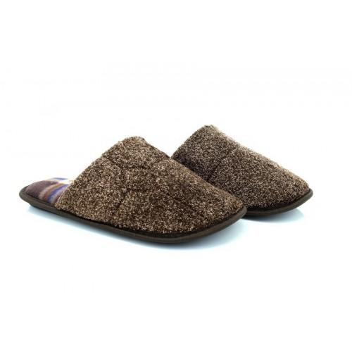 Mens Checked Velour Slipper Classic Novelty Mule Mules Slippers