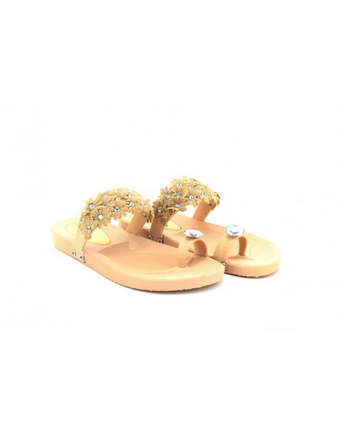 111df28e0fa Girls Ladies Jewel and Flower Toe Loop Summer Sandals
