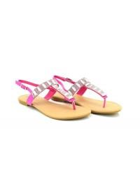 Salina Ladies Diamante Summer Slip On Toe Post Sling Back Summer Sandals