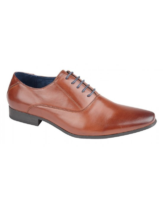 Mens Route 21 Pointed Toe Oxford Formal Lace Up Shoes