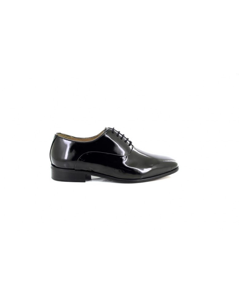 Montecatini Black Patent Leather Lace Up Shoes