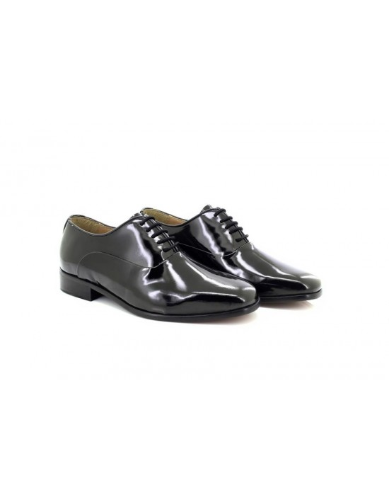 Montecatini M673 Black Patent Leather Lace Up Shoes