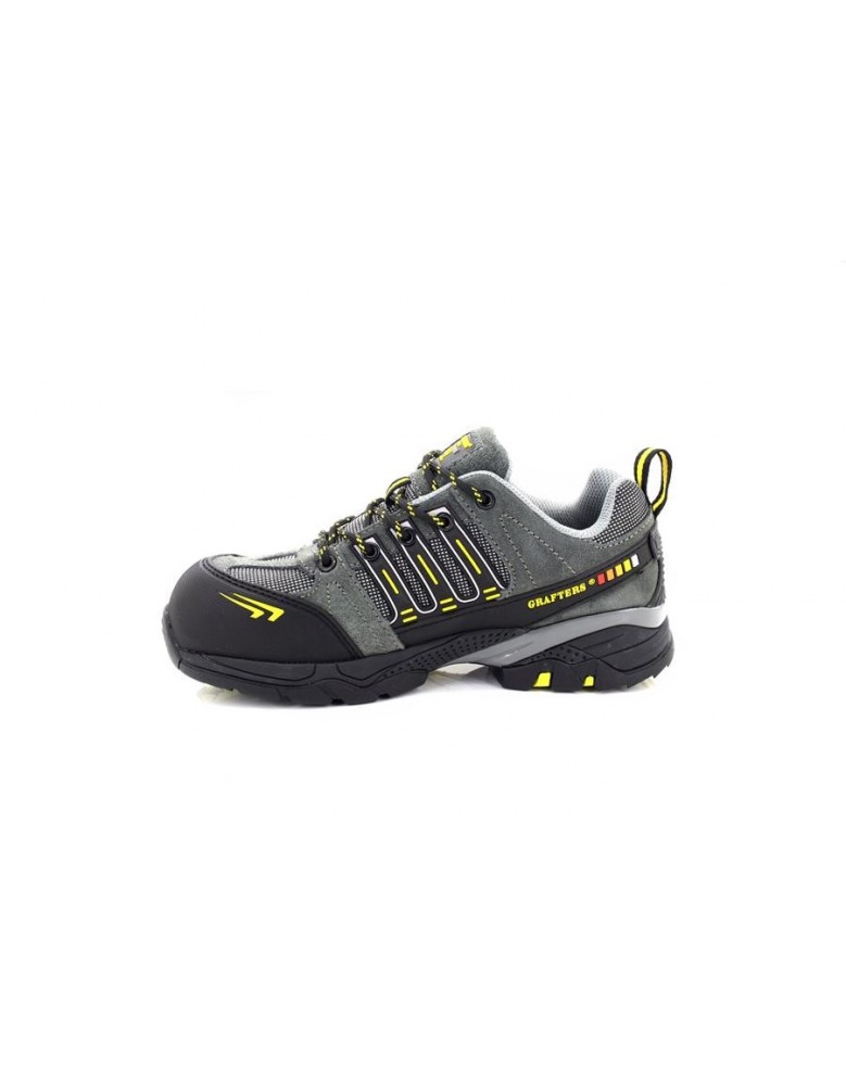 Grafters M065F Fully Composite Unisex Non-Metal Safety Trainer Shoe