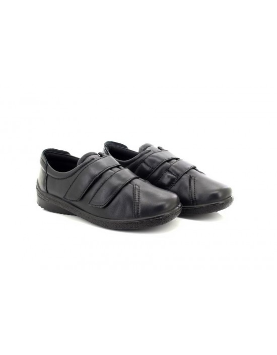 Mod Comfys Andrea Leather 2 Bar Touch Fastening Leisure Shoes Full Padded