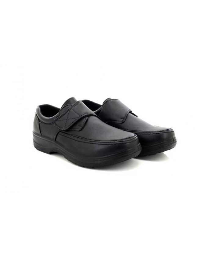 3472049ffb96c Dr Patrick Black Extra Wide Fit Casual Othopaedic Touch Fastening Shoes