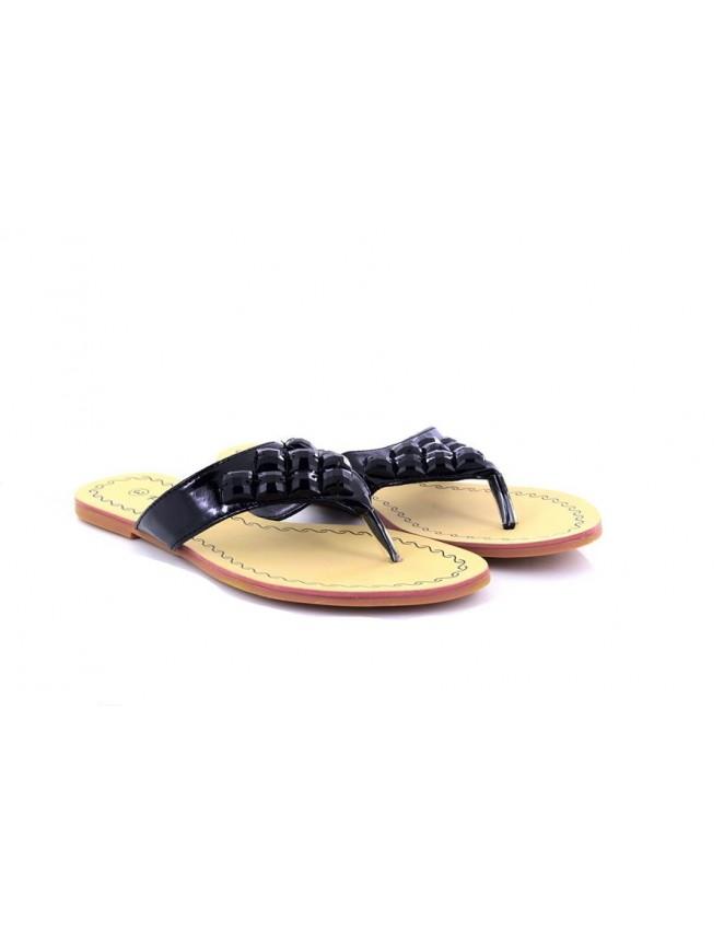 Womens Claire Flat Diamante Toe Post Summer Sandals Flip Flops