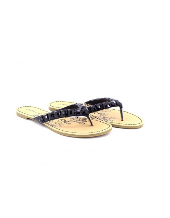 Womens Platino Flat Diamante Toe Post Summer Sandals Flip Flops