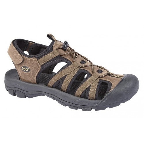 PDQ Mens Toggle /& Touch Fastening Synthetic Nubuck Trail Sandals