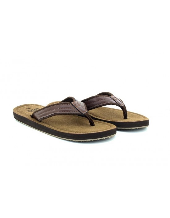 PDQ M641 Mens Mike Toe Post Flip Flop Summer Mule Sandals