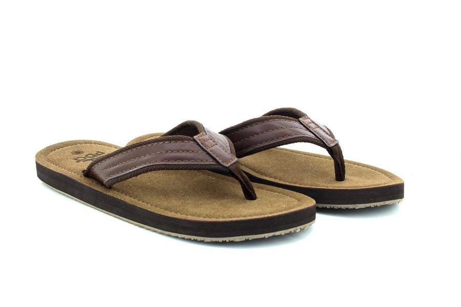 PDQ M641 Mens Mike Toe Post Flip Flop Summer Mule Sandals