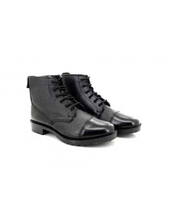 Grafters M166A Traditonal Military Leather 6 Eye Cadet Boots