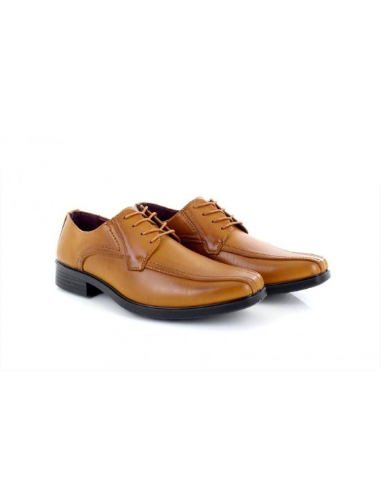 Mens Shoe Avenue CALLUM Tan Leather Lace Up Shoes