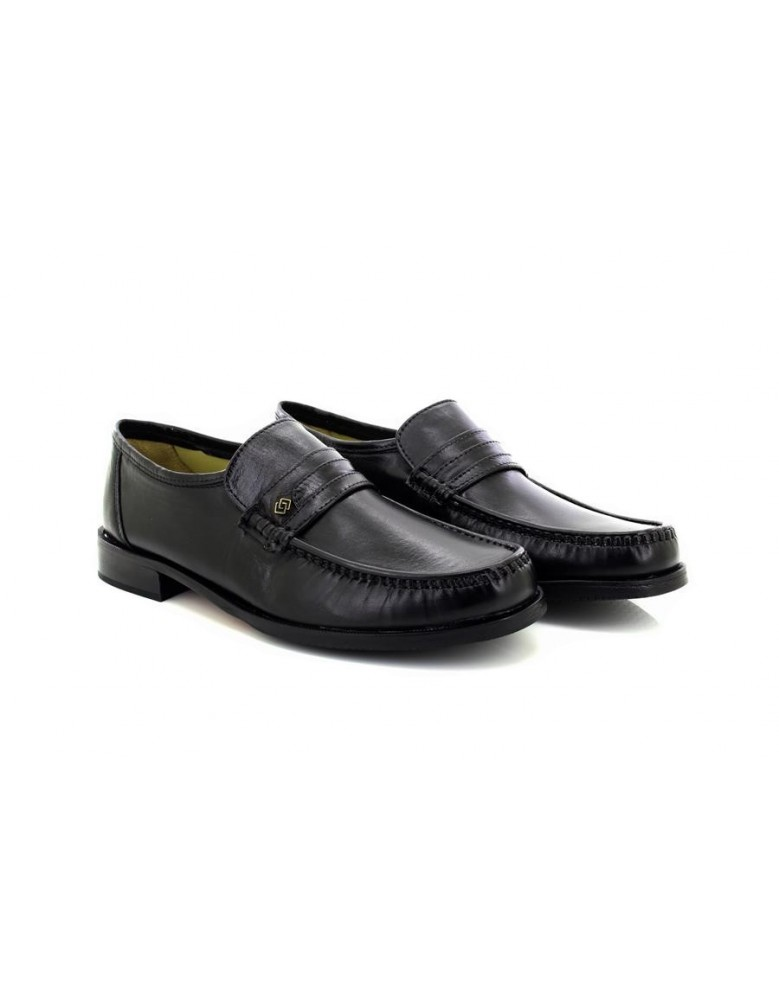 Mens Catesby Mano Black Leather